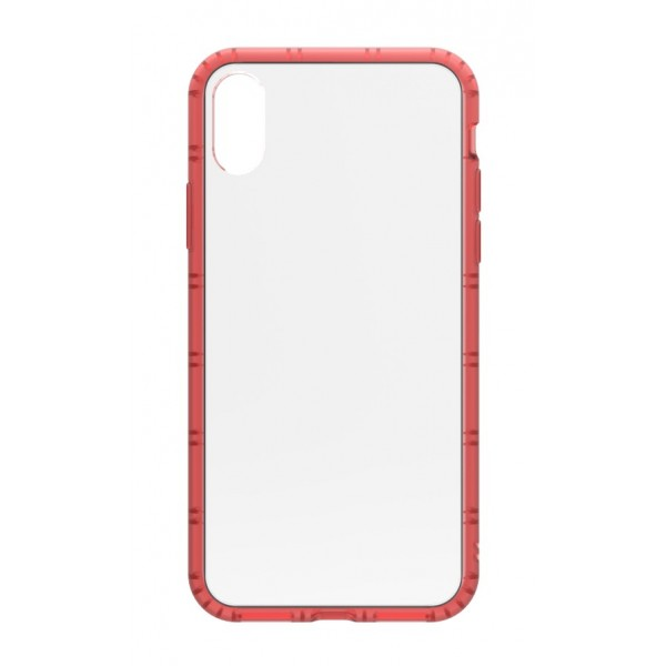 Philo - Cover Protettiva in Gomma Supersottile Antiscivolo per iPhone - Cover Slimbumper - Bumper Cover - Rossa - iPhone X