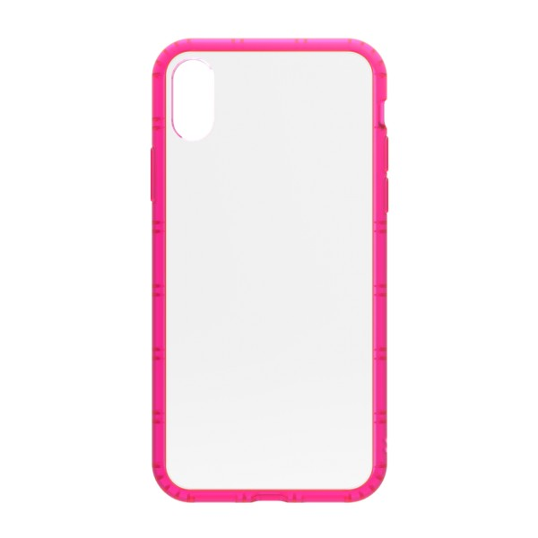 Philo - Cover Protettiva in Gomma Supersottile Antiscivolo per iPhone - Cover Slimbumper - Bumper Cover - Rosa - iPhone X