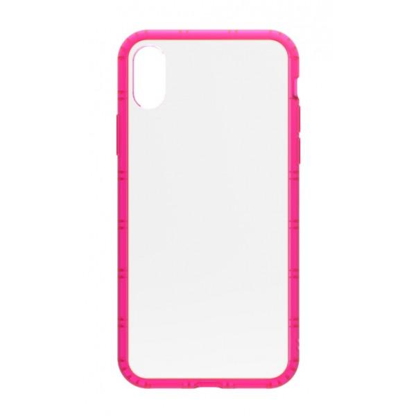 Philo - Cover Protettiva in Gomma Supersottile Antiscivolo per iPhone - Cover Slimbumper - Bumper Cover - Rosa - iPhone X