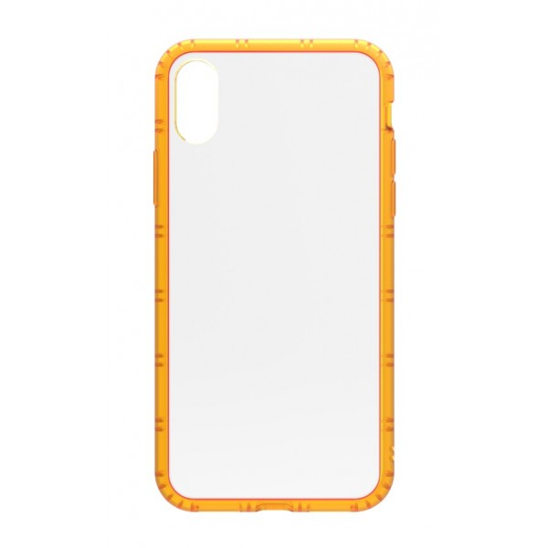 Philo - Cover Protettiva in Gomma Supersottile Antiscivolo iPhone - Cover Slimbumper - Bumper Cover - Arancione - iPhone X