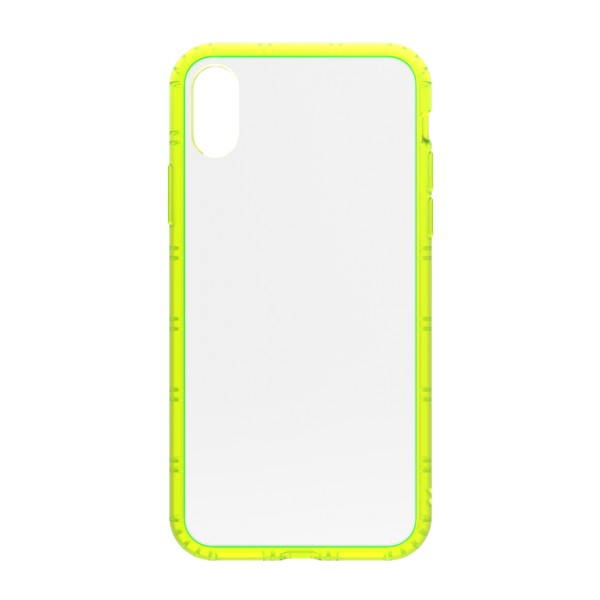 Philo - Cover Protettiva in Gomma Supersottile Antiscivolo per iPhone - Cover Slimbumper - Bumper Cover - Gialla - iPhone X