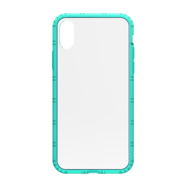 Philo - Cover Protettiva in Gomma Supersottile Antiscivolo per iPhone - Cover Slimbumper - Bumper Cover - Azzurro - iPhone X