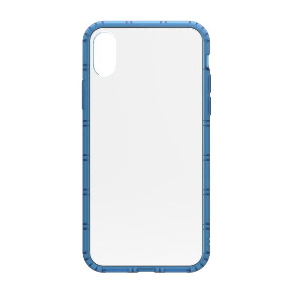 Philo - Rubber Edge and Anti Scratch Bumper Case for iPhone - Slimbumper Case - Bumper Cover - Blue - iPhone X