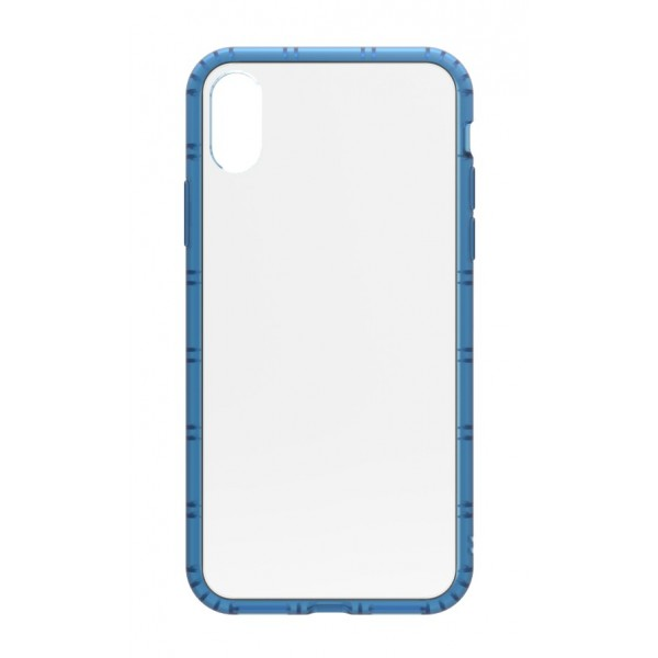 Philo - Cover Protettiva in Gomma Supersottile Antiscivolo per iPhone - Cover Slimbumper - Bumper Cover - Blu - iPhone X