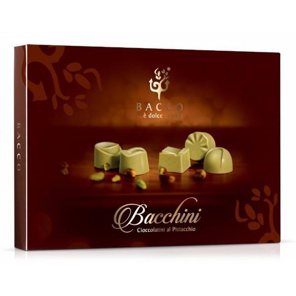 Bacco - Tipicità al Pistacchio - Bacchini - Praline di Cioccolato al Pistacchio - Sicilia - Cioccolatini Artigianali - 150 g