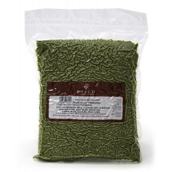Bacco - Tipicità al Pistacchio - Pistachio Flour in Tub - Sicilian Pistachios - Flour - 1000 g