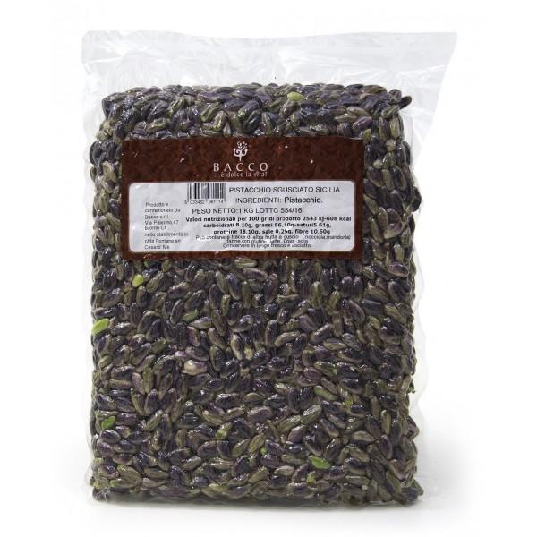 Bacco - Tipicità al Pistacchio - Pistacchio Sgusciato in Vaschetta - Pistacchi Siciliani - Frutta Secca - 1000 g