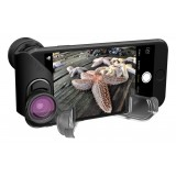 olloclip - Set Lenti Attive - Lenti Nere / Clip Nero - iPhone 8 / 7 / 8 Plus / 7 Plus - Fisheye Grandangolo Tele - Set Lenti