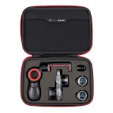 olloclip - Filmer's Kit - Limited Edition - Nero / Rosso - iPhone 8 / 7 / 8 Plus / 7 Plus - Kit Set Lenti