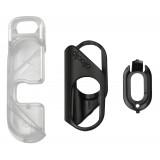 olloclip - iPhone 8 / 7 Clip + Pendant Stand (Cover) - Clip Nero / Stand Pendente Chiaro - iPhone 8 / 7 - Clip Professionale