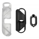 olloclip - iPhone 8 Plus / 7 Plus Clip + Pendant Stand (Cover) - Clip Nero / Stand Pendente Chiaro - iPhone - Clip Professionale
