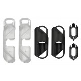 olloclip - iPhone 8 Plus / 7 Plus Clip + Pendant Stand (No Cover) - Clip Nero / Stand Chiaro - Double Pack - Clip Professionale