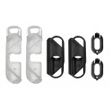 olloclip - iPhone 8 Plus / 7 Plus Clip + Pendant Stand (Cover) - Clip Nero / Stand Chiaro - Double Pack - Clip Professionale