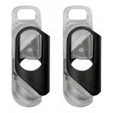 olloclip - iPhone 8 / 7 Clip + Pendant Stand (No Cover) - Clip Nero / Stand Pendente Chiaro - Double Pack - Clip Professionale