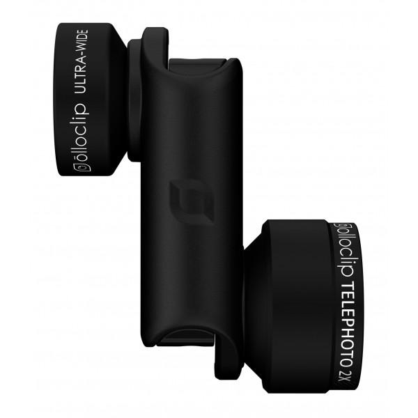 olloclip - Set Lenti Active - Nero / Clip Nero - iPhone 6 / 6s / 6 Plus / 6s Plus - Ultra-Wide Teleobbiettivo - Set Lenti
