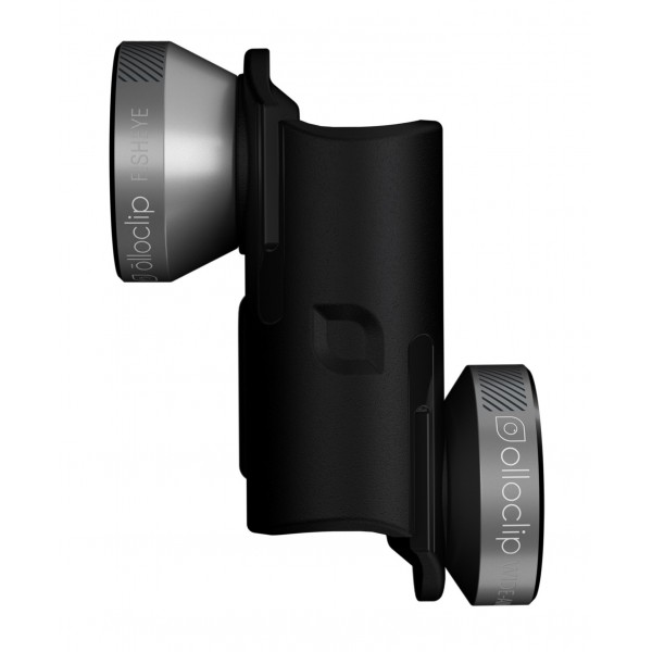 olloclip - Set Lenti 4 in 1 per Otterbox Universe - Grigio Spazio / Clip Nero - iPhone 6 / 6s / 6 Plus / 6s Plus - Set Lenti