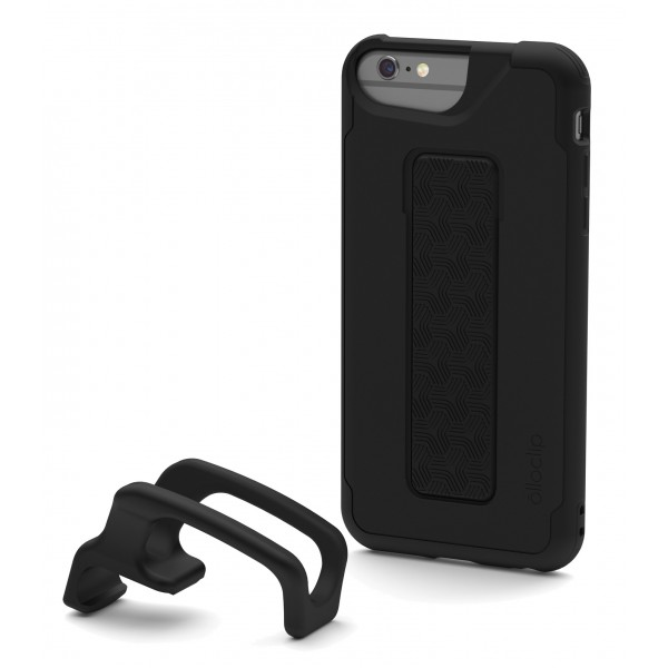 olloclip - Studio Cover + Finger Grip - Nero - iPhone 6 Plus / 6s Plus - Cover iPhone - Cover Professionale