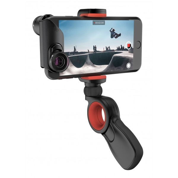 olloclip - Pivot - Black / Red - iPhone - GoPro - Samsung - Professional Staff Foto Video