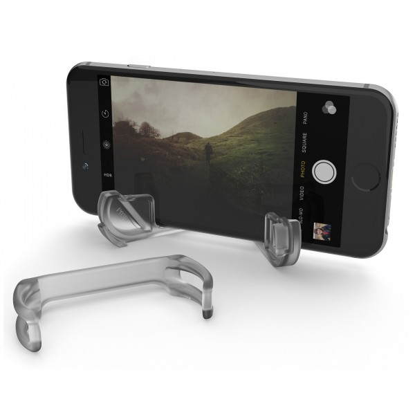 olloclip - Pendant Stand e Attacco Loop - Trasparente - iPhone - Samsung - Staffa Professionale Foto Video