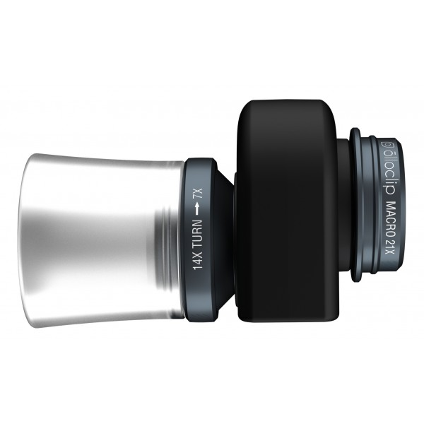 olloclip - Set Lenti 3 in 1 - Nero - iPad Air / iPad Air 2 / Mini / Mini 2 / 3 / 4 - Fisheye Grandangolo Macro - Set Lenti