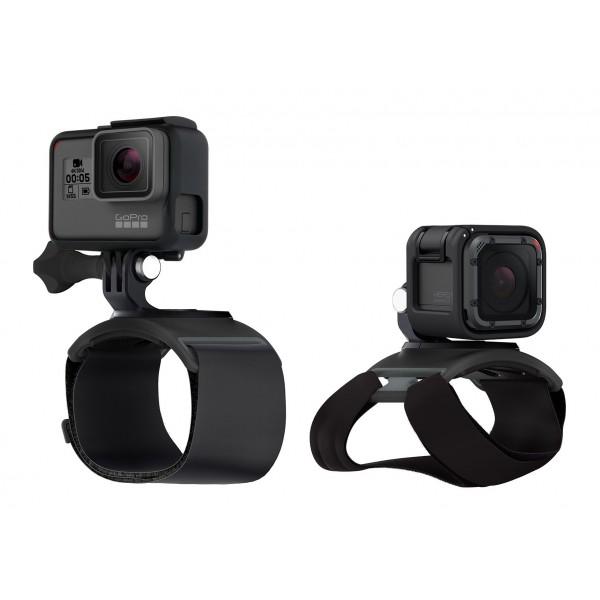 GoPro - Fascia da Polso + Mano - Nero - Utilizzabile con GoPro HERO6 / HERO5 - 4K 1080p