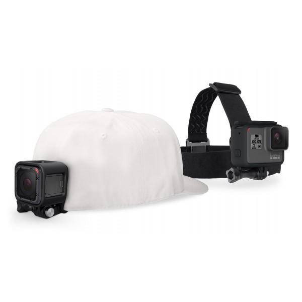 GoPro - Fascia per la Testa + QuickClip - Nero - Supporto - Utilizzabile con GoPro HERO6 / HERO5 - 4K 1080p - Accessori GoPro