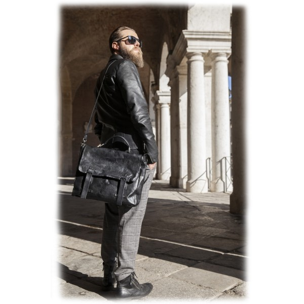 Anonima Barbieri - A.S. 98 - La Cartella - Vintage Leather Folder Bag - Handmade Leather Crafted by Italian Master Artisans