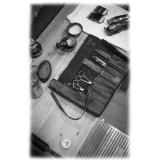 Anonima Barbieri - A.S. 98 - La Custodia - Fodero degli Accessori in Pelle Vintage - Cuoio Lavorato a Mano da Maestri Artigiani