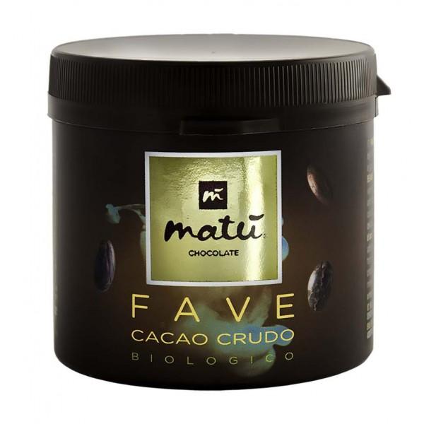 Matù Chocolate - Fave di Cacao Crude Pelate e Non Tostate - Biologiche Vegane