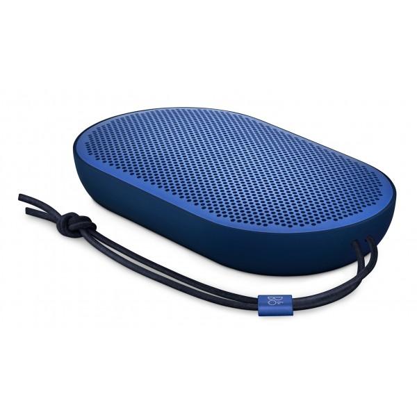 Bang & Olufsen - B&O Play - Beoplay P2 - Blu Reale - Altoparlante Portatile di Alta Qualità Resistente alla Polvere e all' Acqua