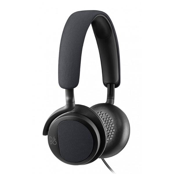 B&O Play - Bang & Olufsen - Beoplay H2 - Blu Carbone - Cuffie Flessibili con Cavo On-Ear con Microfono e Controllo Remoto