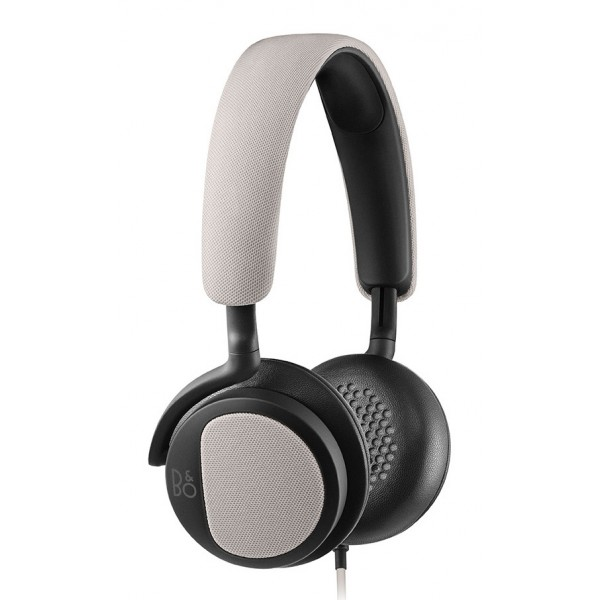 Bang & Olufsen - B&O Play - Beoplay H2 - Silver Cloud - Flexible On-Ear Corded Headphone with Microphone and Remote Control