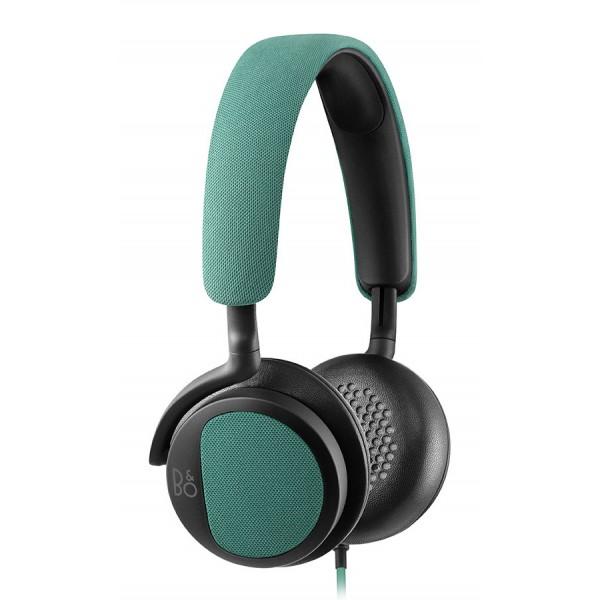 B&O Play - Bang & Olufsen - Beoplay H2 - Verde Cristallo - Cuffie Flessibili con Cavo On-Ear con Microfono e Controllo Remoto