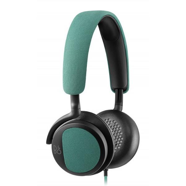 Bang & Olufsen - B&O Play - Beoplay H2 - Verde Cristallo - Cuffie Flessibili con Cavo On-Ear con Microfono e Controllo Remoto