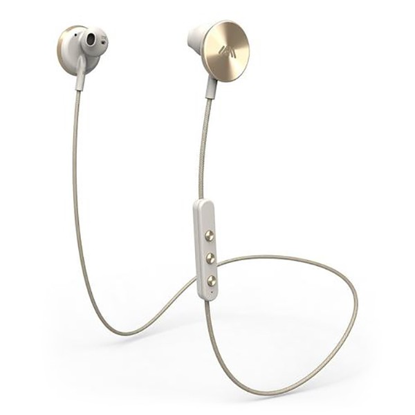 i.am+ - I Am Plus - Buttons - Gold - Premium Wireless Bluetooth Earphones - Tailored Fit with Immersive Sound