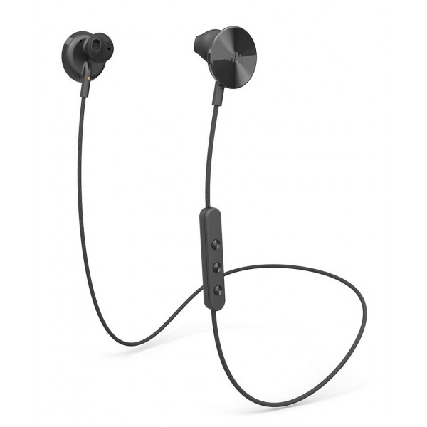 i.am+ - I Am Plus - Buttons - Nero - Auricolari Premium Wireless Bluetooth - Disegnati per un Suono Avvolgente