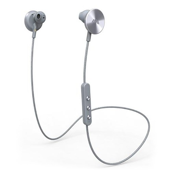 i.am+ - I Am Plus - Buttons - Grey - Premium Wireless Bluetooth Earphones - Tailored Fit with Immersive Sound