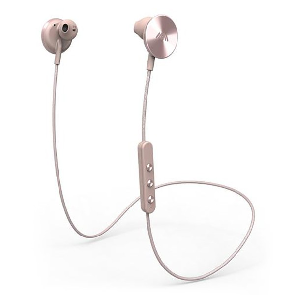 i.am+ - I Am Plus - Buttons - Rose - Premium Wireless Bluetooth Earphones - Tailored Fit with Immersive Sound