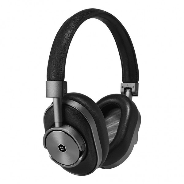 Master & Dynamic - MW60 - Gunmetal / Black Leather - Premium High Quality and Performance Wireless Over-Ear Headphones
