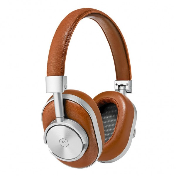 Master & Dynamic - MW60 - Silver Metal / Brown Leather - Premium High Quality and Performance Wireless Over-Ear Headphones