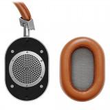 Master & Dynamic - MW60 - Metallo Argento / Pelle Marrone - Cuffie Auricolari Premium Wireless - Alta Qualità - Alte Prestazioni