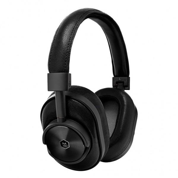 Master & Dynamic - MW60 - Metallo Nero / Pelle Nera - Cuffie Auricolari Premium Wireless di Alta Qualità ad Alte Prestazioni