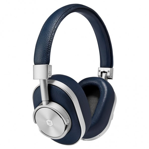 Master & Dynamic - MW60 - Silver Metal / Navy Leather - Premium High Quality and Performance Wireless Over-Ear Headphones