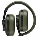Master & Dynamic - MW60 - Metallo Nero / Pelle Oliva - Cuffie Auricolari Premium Wireless di Alta Qualità ad Alte Prestazioni