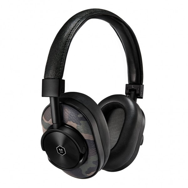Master & Dynamic - MW60 - Black Metal / Camo Leather - Premium High Quality and Performance Wireless Over-Ear Headphones