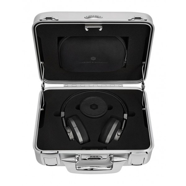Master & Dynamic - MW60 - Halliburton Case - Gunmetal / Black Leather - Premium High Quality Wireless Over-Ear Headphones