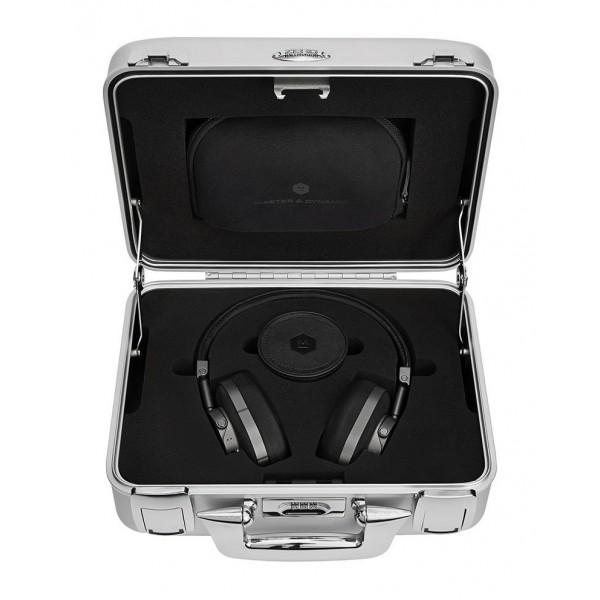 Master & Dynamic - MW60 - Halliburton Case - Metallo Fucile / Pelle Nera - Cuffie Auricolari Premium Wireless di Alta Qualità