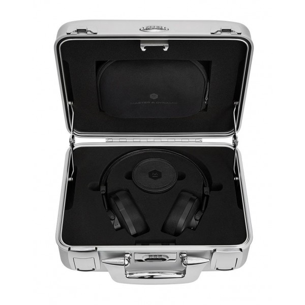 Master & Dynamic - MW60 - Halliburton Case - Black Metal / Black Leather - Premium High Quality Wireless Over-Ear Headphones