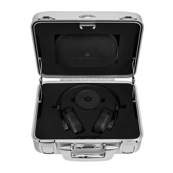 Master & Dynamic - MW60 - Halliburton Case - Black Metal / Black Leather - Premium High Quality Wireless Over-Ear Headphones