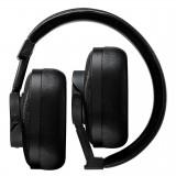 Master & Dynamic - MW60 - Halliburton Case - Metallo Nero / Pelle Nera - Cuffie Auricolari Premium Wireless di Alta Qualità